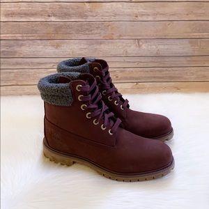 """Timberland Burgundy Premium 6"""" Waterproof Boots"""
